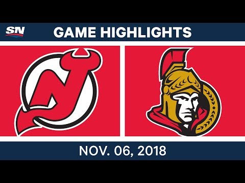 NHL Highlights | Devils vs. Senators – Nov. 6, 2018