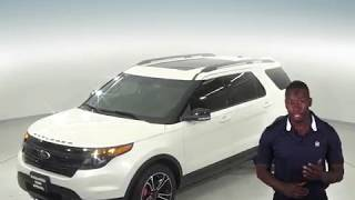 C96853NA - Used, 2015, Ford Explorer, Sport, AWD, SUV, White, Test Drive, Review, For Sale -