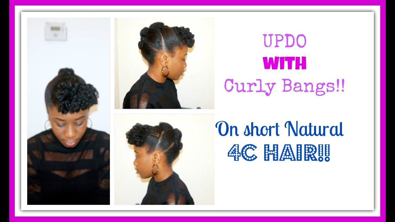 Casual Updos Short Curly Hair How To Updo For Naturally You