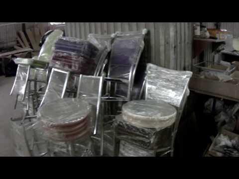 Производство мебели на хромированном металлическом каркасе.