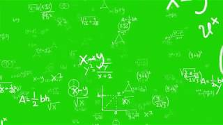 4K Math Background Greenscreen effect Chromakey | Copyright free