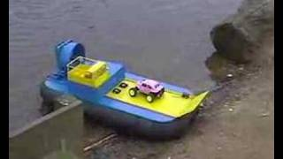 RC Hovercraft carrying an RC car
