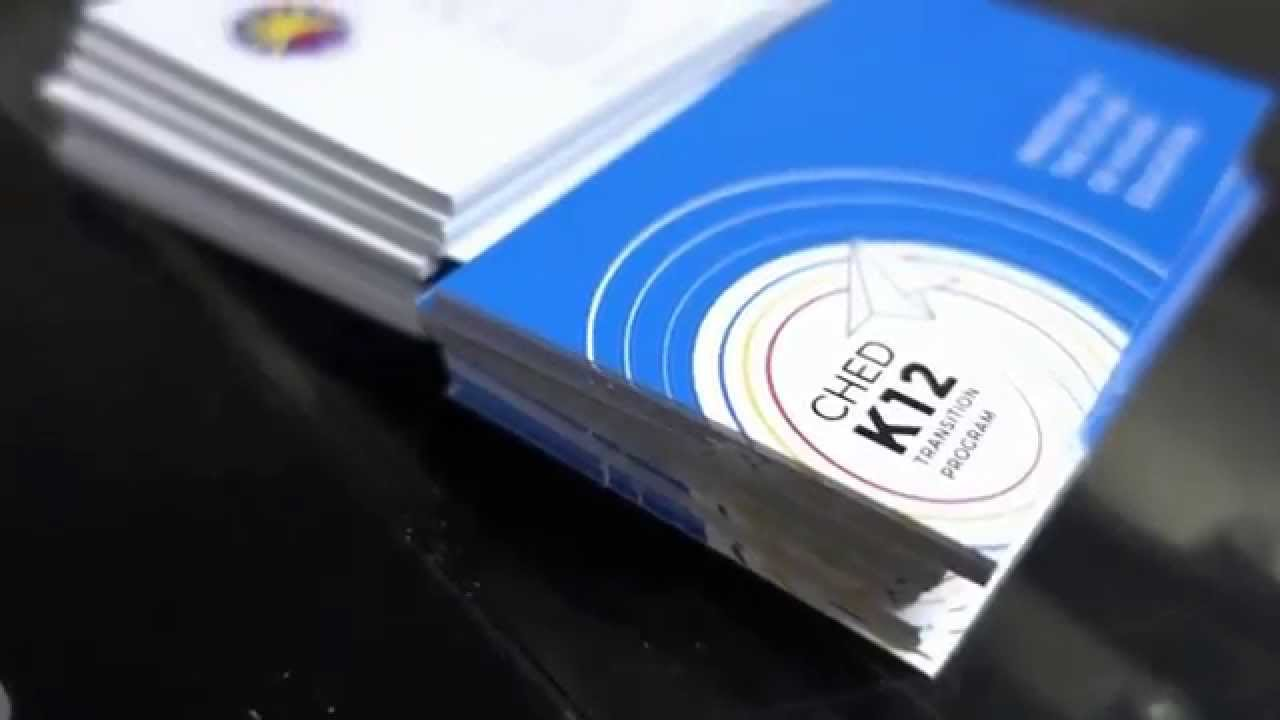 Business Card Production - Alfox Printing Services - YouTube