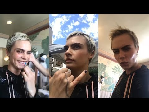 Cara Delevingne | Instagram Live Stream | 11 September 2017