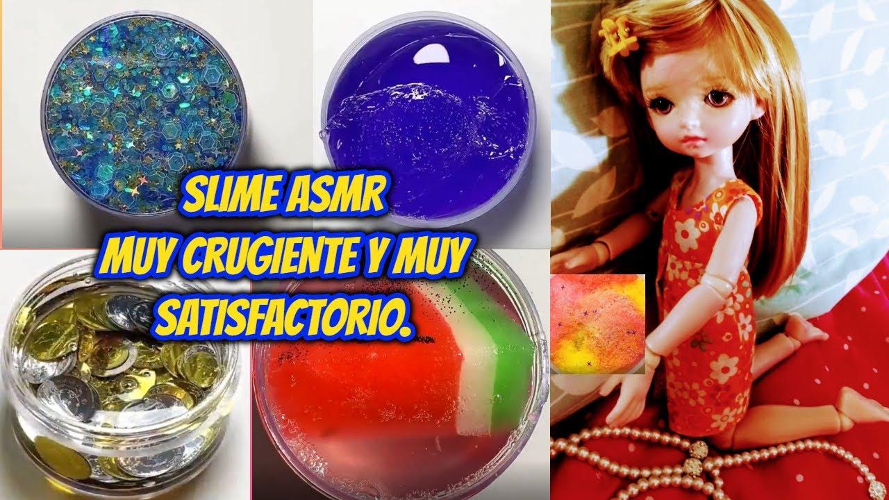 SLIME ASMR MUY CRUGIENTE Y MUY SATISFACTORIO - TODO PARA NIÑOS