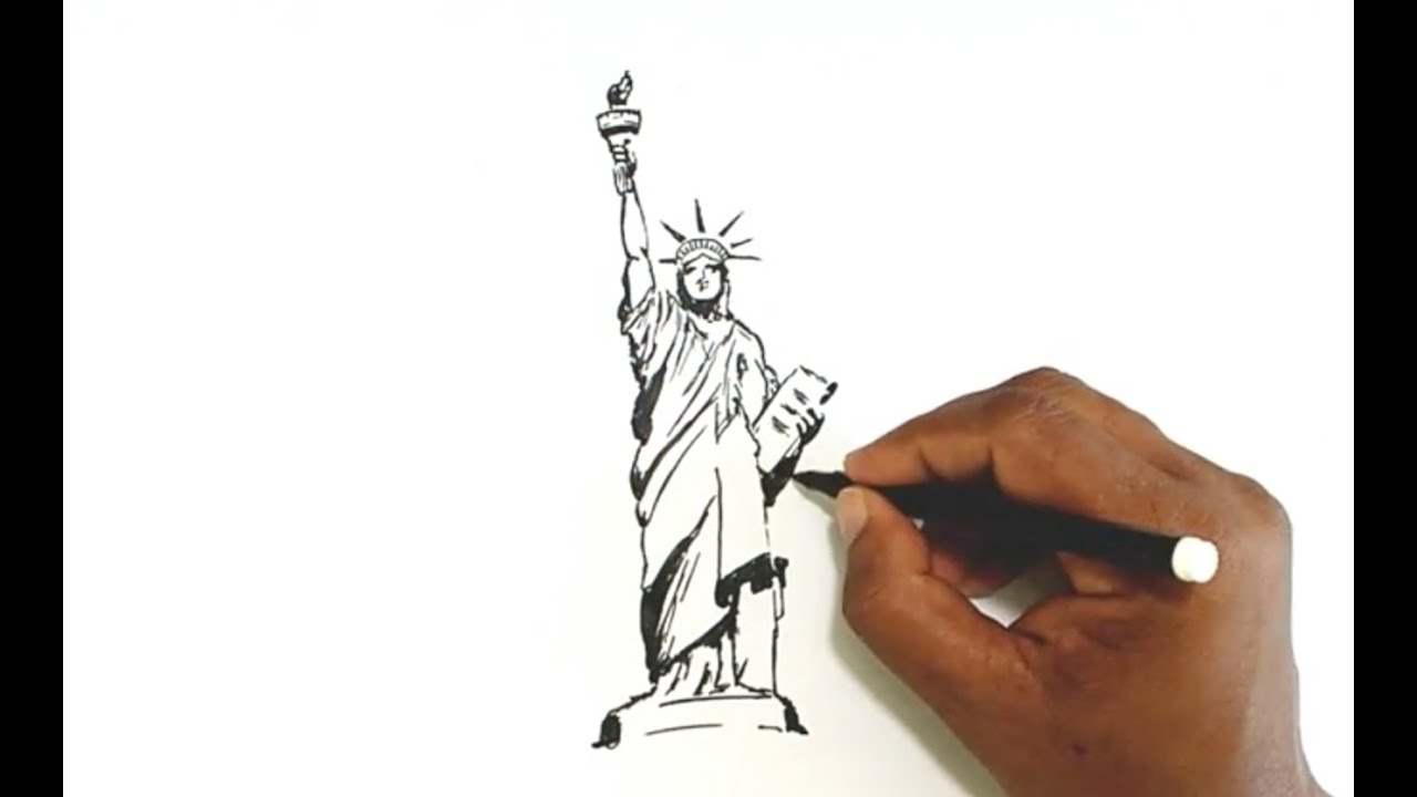 how to draw the statue of liberty youtube