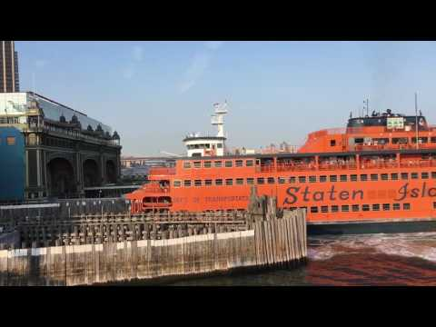 Staten Island Ferry - docking into Whitehall terminal
