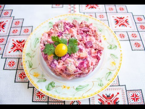 Салат з вареного буряка❤Салат из вареной свеклы