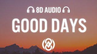 Download SZA - Good Days (Lyrics) | 8D Audio 🎧