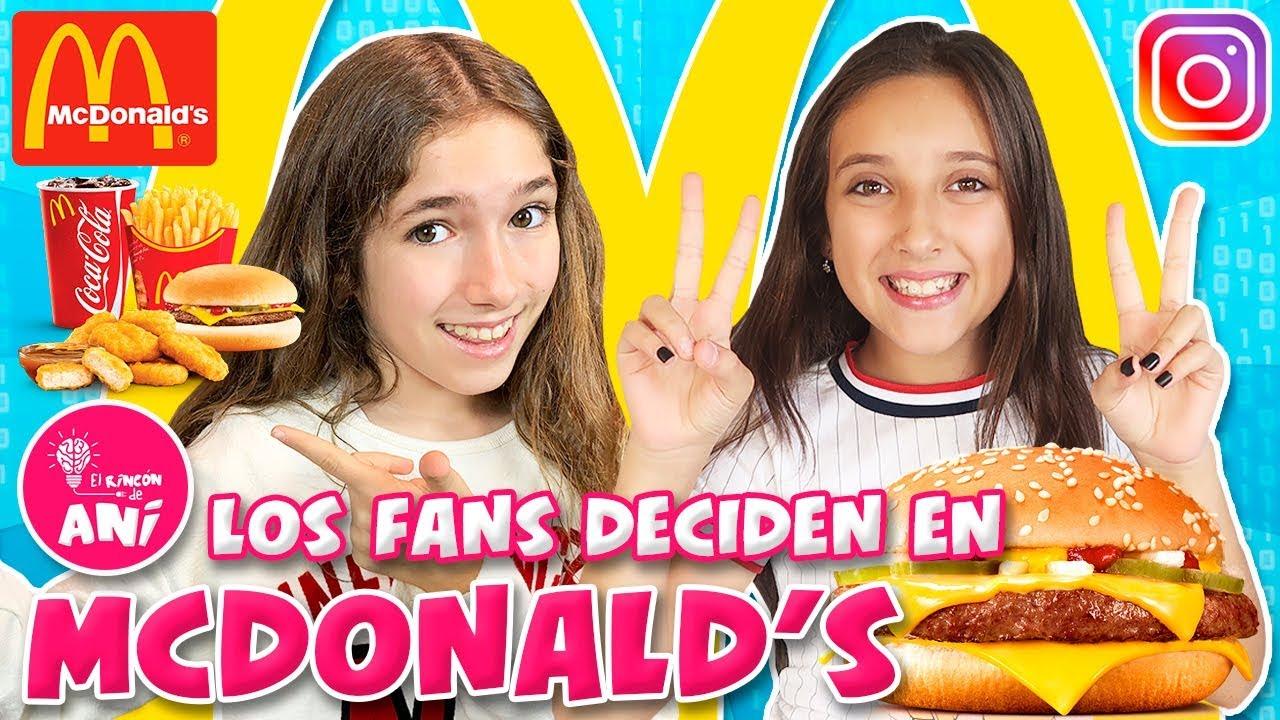 Mis Fans Deciden Mi Comida En Mcdonalds Como Hamburguesas Con Noa De Factoría De Diversión Youtube