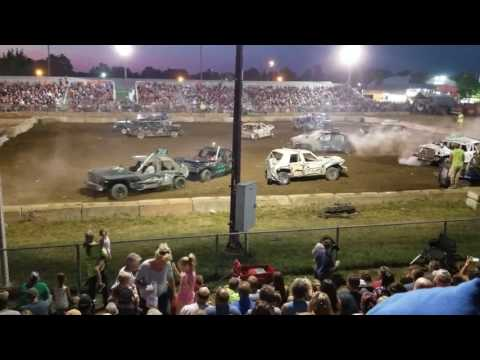2017 Imlay City Feature Demolition Derby