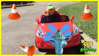 Kids Power Wheels Ride On Cars and Police Car Pretend Play! Family Fun Video for Children