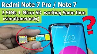 Dual Sim & SD Card Simultaneously on Redmi Note 7 Pro & Redmi Note 7/ 7S  Working or NOT