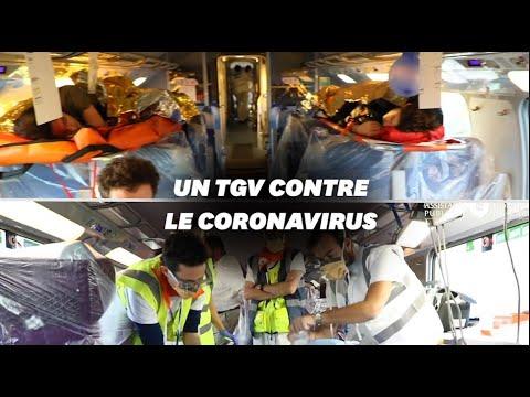 À quoi ressemble le TGV médicalisé qui va évacuer des malades coronavirus
