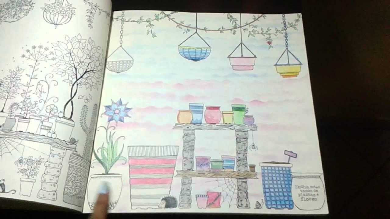 Pinturas prontas do meu jardim secreto ! - YouTube