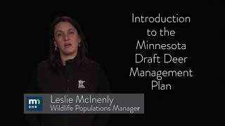 Introduction to the Minnesota Draft Deer Management Plan
