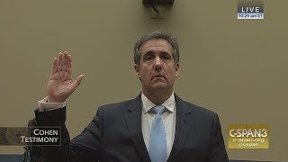 LIVE Michael Cohen testifies before House Oversight Cmte C SPAN