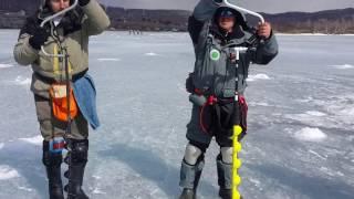 Казанцев научил ледобур Iceberg 110 бурить почти как Торнадо 100