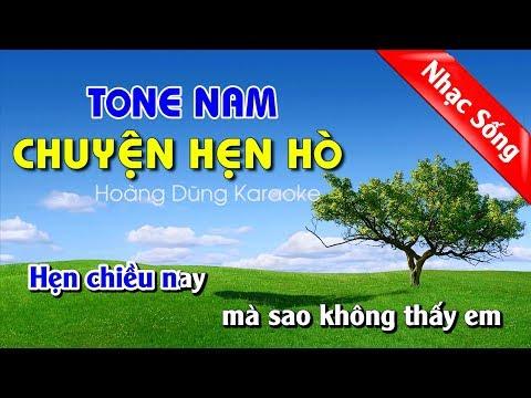 Chuyện Hẹn Hò Karaoke Nhạc Sống - Chuyen Hen Ho Karaoke Tonen Nam