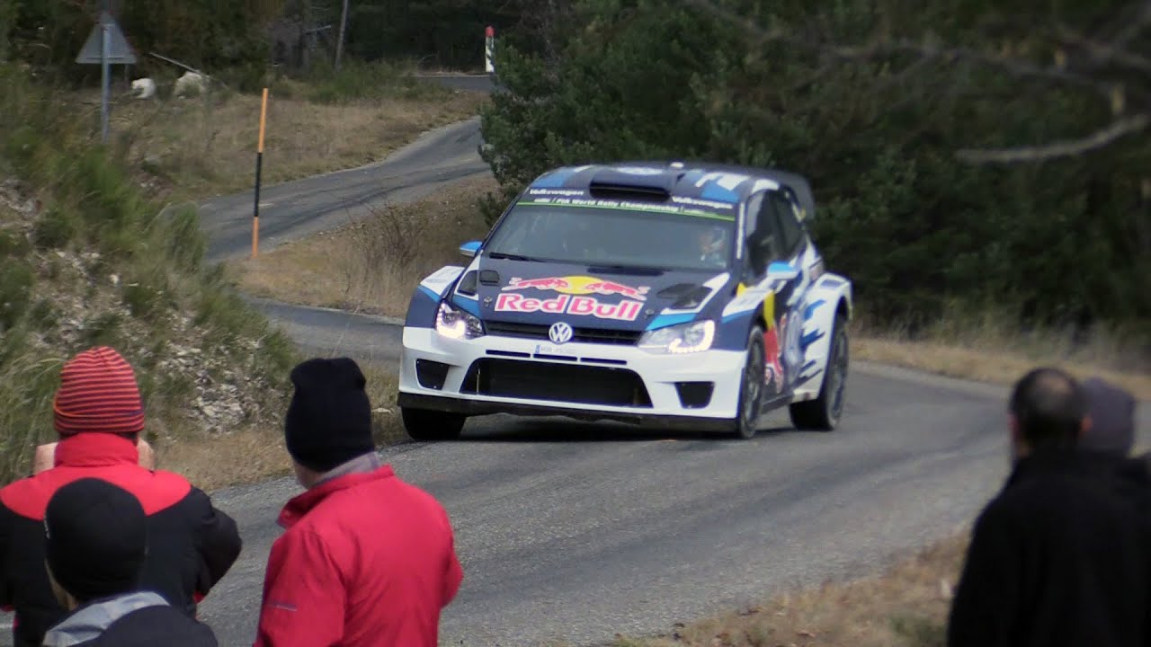 test rallye de monte carlo 2016 vw polo wrc s bastien ogier youtube. Black Bedroom Furniture Sets. Home Design Ideas