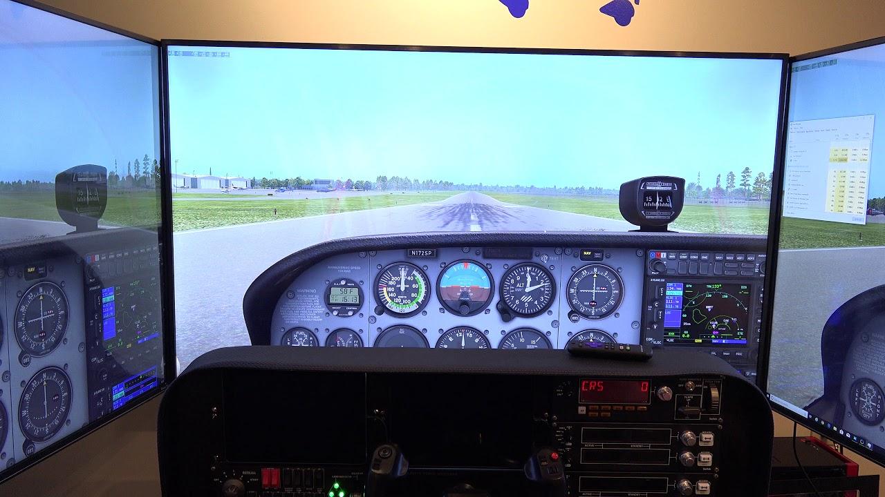 Three-PC-Network Setup with three 4K TVs running X-Plane 11