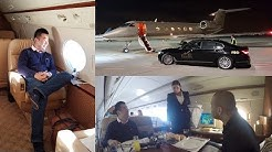 Flying the Gulfstream Private Jet from London to Dubai