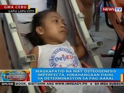 Magkapatid na may osteogenesis imperfecta, hinahangaan dahil sa determinasyon sa pag-aaral