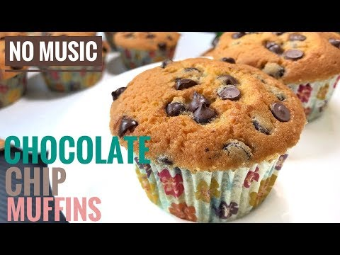 Chocolate Chip Muffins Recipes  | Cooking ASMR 🎧