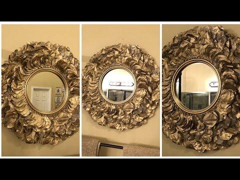 Dollar Tree DIY - 💕 Gold Rose Petal Wall Mirror 💕