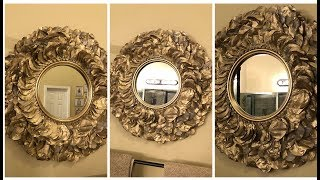 Dollar Tree DIY - 💕 Gold Rose Petal Wall Mirror 💕