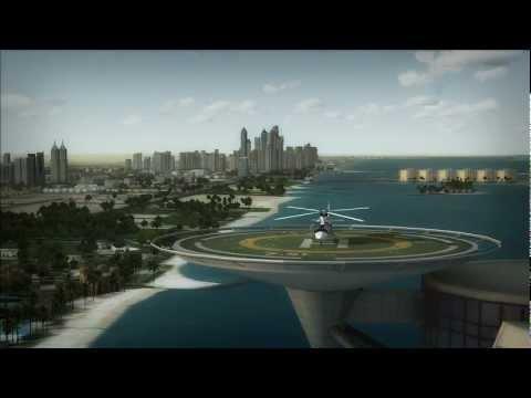 AgustaWestland AW109 - Burj Al Arab takeoff - FSX HD
