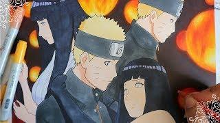 Speed drawing - Naruto and Hinata   Naruto The Last