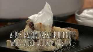 Apple Raisin Bread Pudding Taste Treat