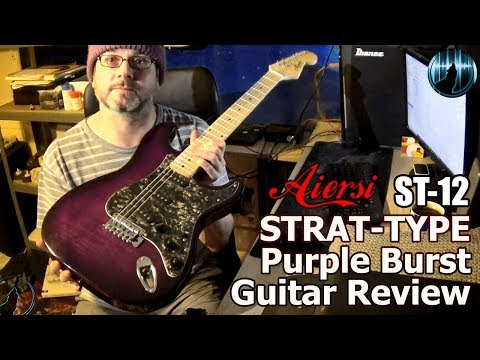 Aiersi ST-12 Strat-Type  Purple Burst Guitar Review