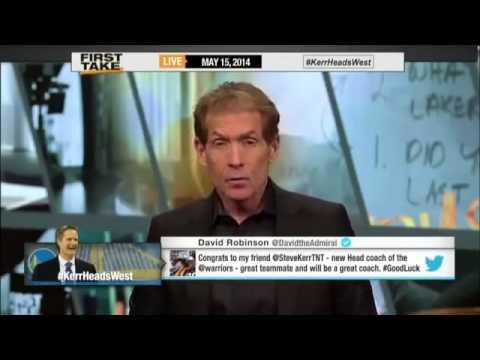 Steve Kerr Is New Warriors Head Coach!     ESPN First Take