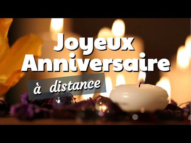 Joyeux Anniversaire Jolie Carte Virtuelle A Distance Confine Youtube