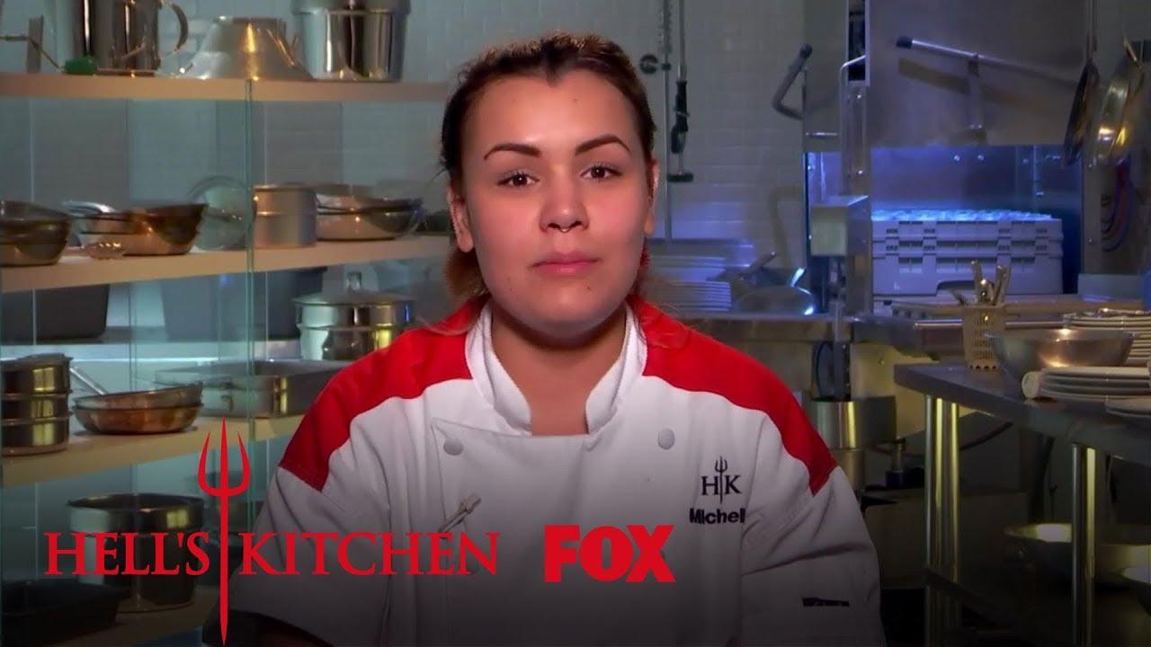Michelle Falls On The Kitchen Floor Season 17 Ep 6 Hell S Kitchen All Stars