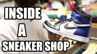 INSIDE A *CRAZY SNEAKER SHOP! (RoundTwo Hollywood)