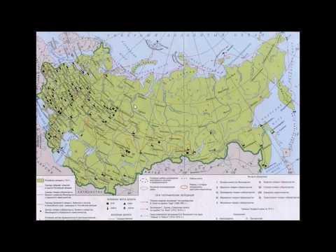 Карта Российской Империи 1914 года