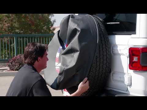 Installation Video - Boomerang Soft Tire Covers For The Jeep® JL Wrangler (w/ Back-up Camera)