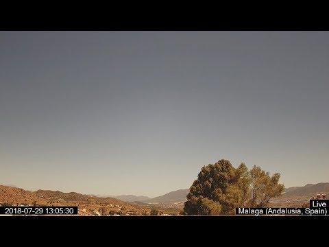 Paisaje andaluz desde Málaga, Andalucía, España