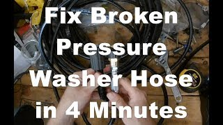 How to Fix a Pressure Washer Hose and Fix Leaks or Holes (Any Brand, Gas or Electric)