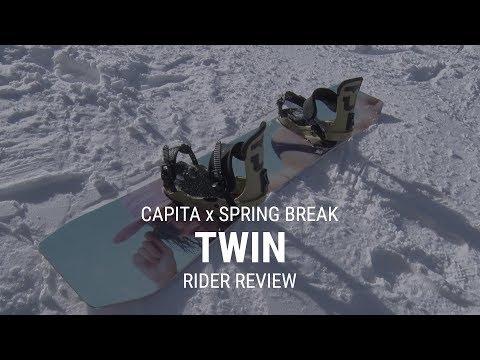 CAPiTA Spring Break Twin 2019 Snowboard Rider Review - Tactics.com