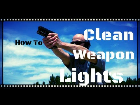 How To Clean Carbon Off Of Weapon Lights (TLR, X300, APL, ect...) HD
