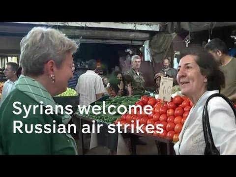 Syria: Russian air strikes welcomed in Assad's heartland