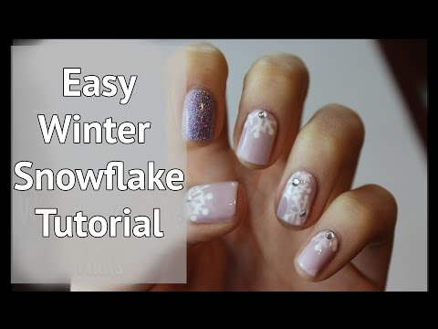 Winter Snowflake Nail Art Tutorial | xameliax