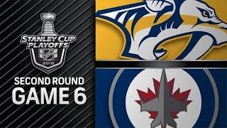 NHL 18 PS4. 2018 STANLEY CUP PLAYOFFS SECOND ROUND GAME 6: WEST PREDATORS VS JETS. 05.07.2018 !