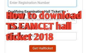 How to download TS EAMCET hall ticket 2018