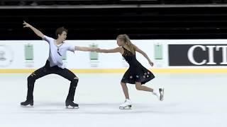 Ушакова Арина/Некрасов Максим Россия | ISU ЮГП 2018 Каунас | Произвольный танец (танцы на льду)