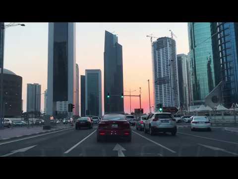Sunset Driving in Qatar